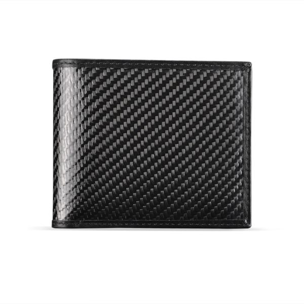 Portofel pliabil, fibra de carbon, negru mat - Underline