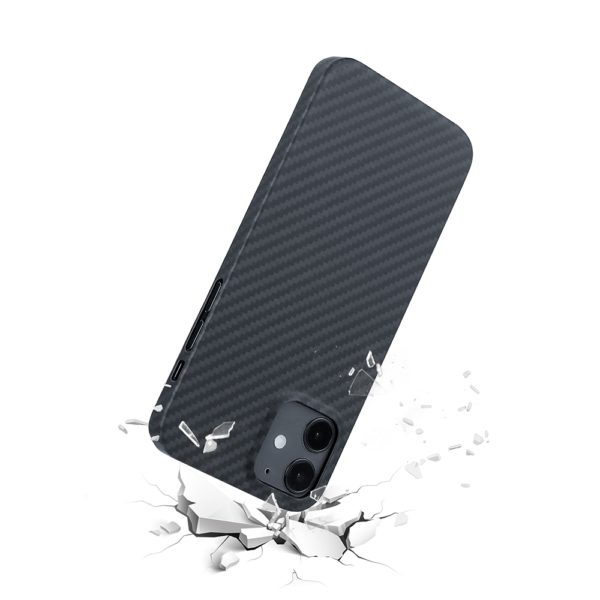 Husa iPhone 12 Mini, Kevlar, full size protection, wireless charging - Underline