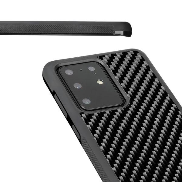 Husa Samsung Galaxy S20 Ultra, fibra de carbon, anti slide, full size protection, wireless charging - Underline
