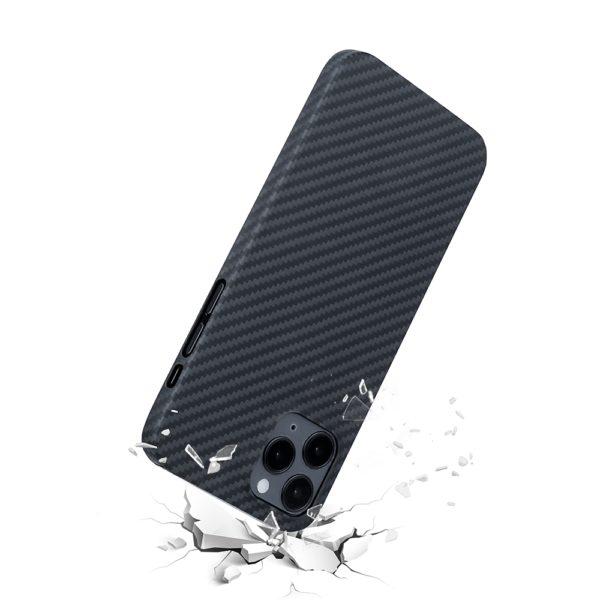 Husa de protectie pentru iPhone 12 Pro Max, Kevlar, suporta wireless charging - Underline