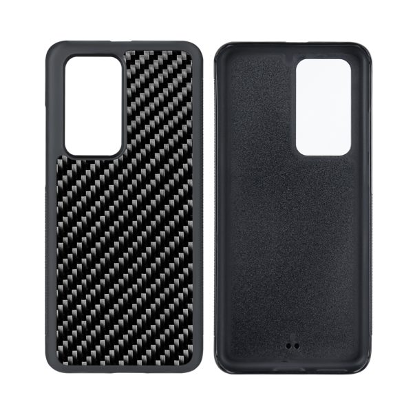 Husa Huawei P40 Lite, fibra de carbon, anti slide, full size protection, wireless charging - Underline