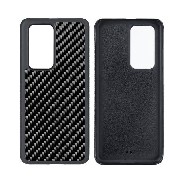 Husa Huawei P40 Pro, fibra de carbon, anti slide, full size protection, wireless charging - Underline