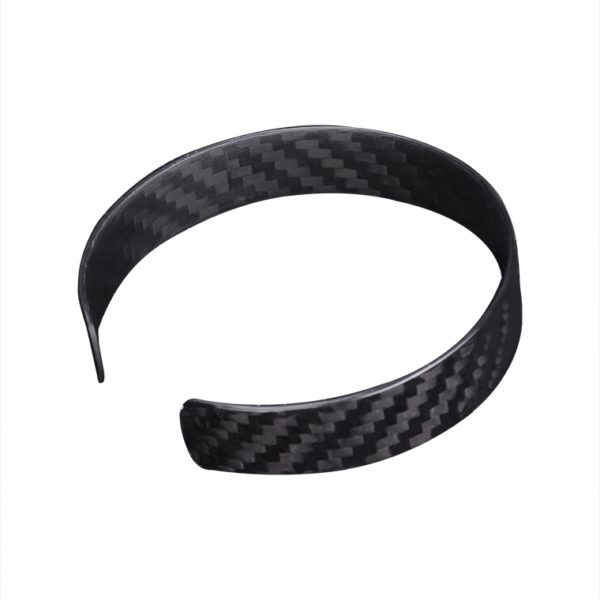 Bratara, fibra de carbon, unisex, negru glossy - Underline