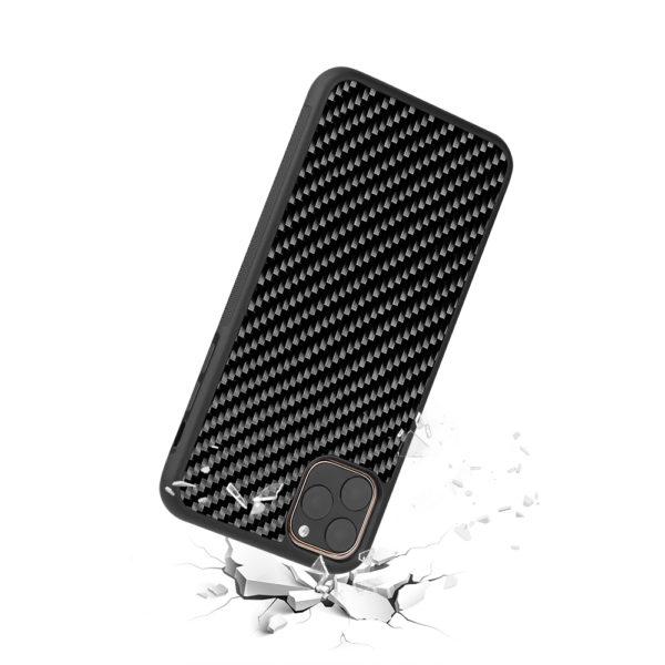 Husa iPhone 11 Pro, fibra de carbon, anti slide, full size protection, wireless charging - Underline