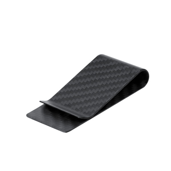 Money clip, fibra de carbon, negru mat - Underline