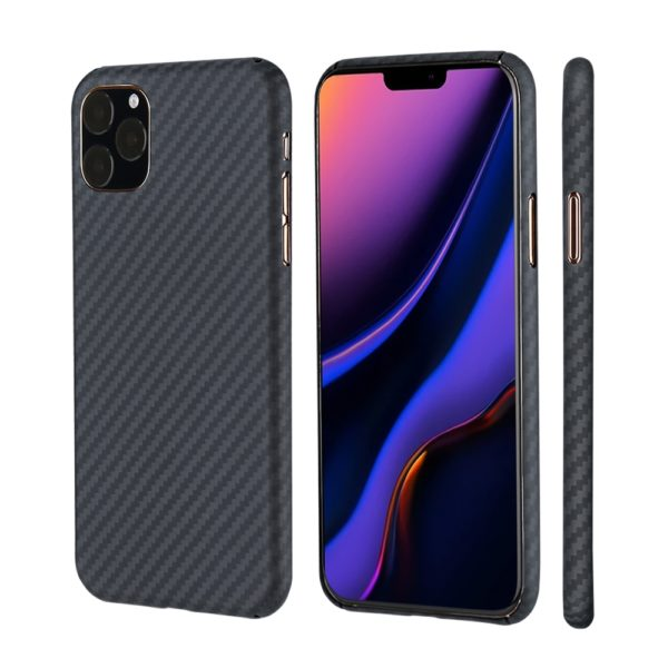 Husa iPhone 11 Pro Max, Kevlar, full size protection, wireless charging - Underline
