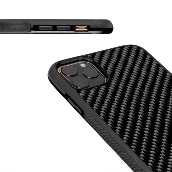 Husa iPhone 11 Pro Max, fibra de carbon, anti slide, full size protection, wireless charging - Underline