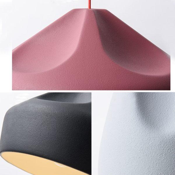 Lustra suspendata Harper , abajur de ceramica, inaltime 18 cm - Underline