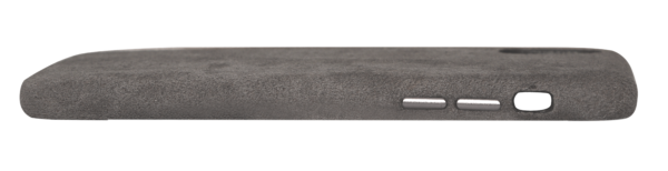 Husa de protectie pentru iPhone X/Xs, Alcantara, suporta wireless charging, space grey - Underline
