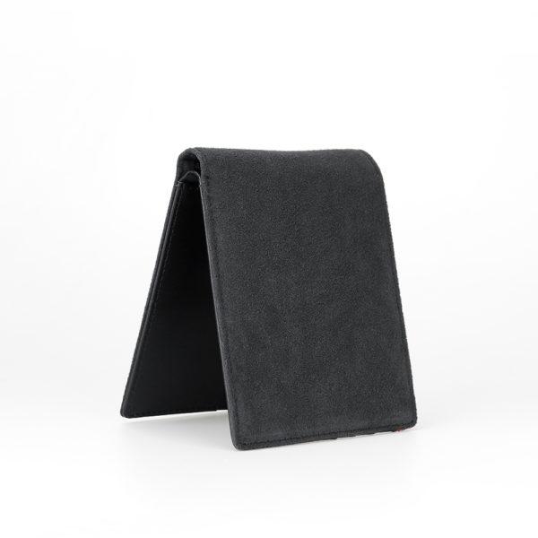 Portofel pliabil, Alcantara, negru - Underline