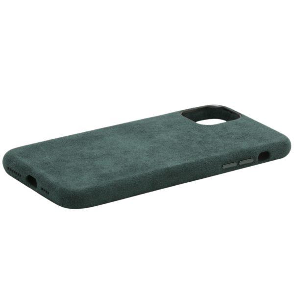 Husa iPhone 11 Pro Max, Alcantara, full size protection, wireless charging - Underline