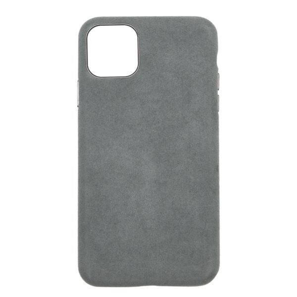 Husa iPhone 11, Alcantara, full size protection, wireless charging - Underline