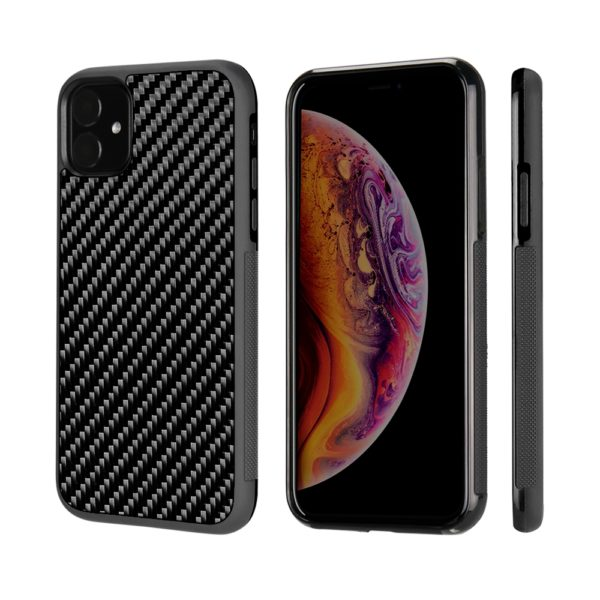 Husa iPhone 11, fibra de carbon, anti slide, full size protection, wireless charging - Underline
