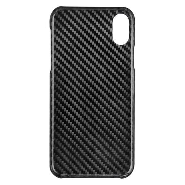 Husa iPhone X/Xs, fibra de carbon forjata, full size protection, wireless charging - Underline