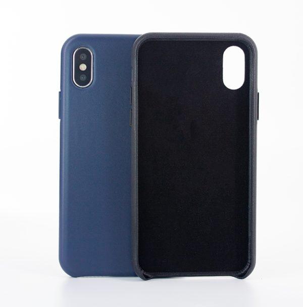 Husa de protectie pentru iPhone X/Xs, piele naturala, suporta wireless charging - Underline