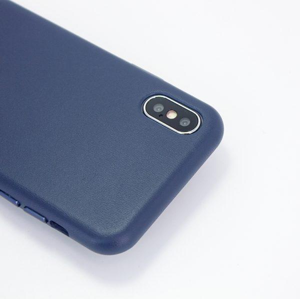 Husa de protectie pentru iPhone Xs Max, piele naturala, suporta wireless charging - Underline