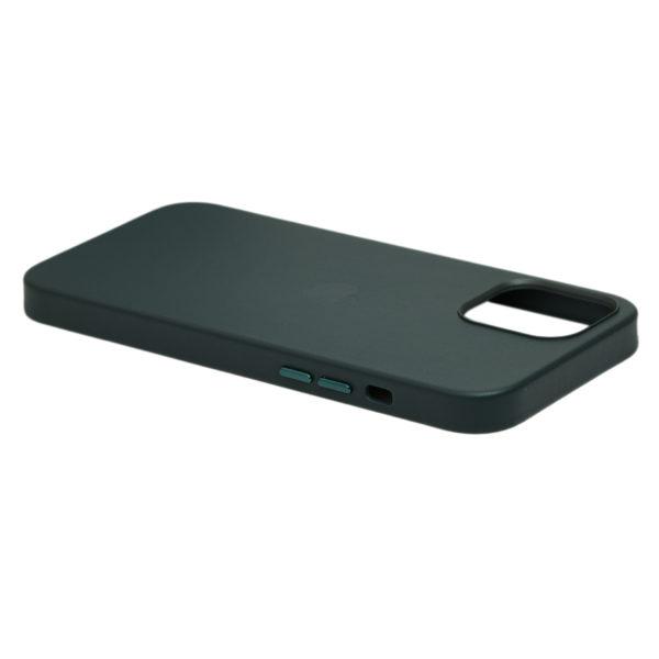 Husa de protectie pentru iPhone 12, piele naturala, MagSafe, suporta wireless charging - Underline