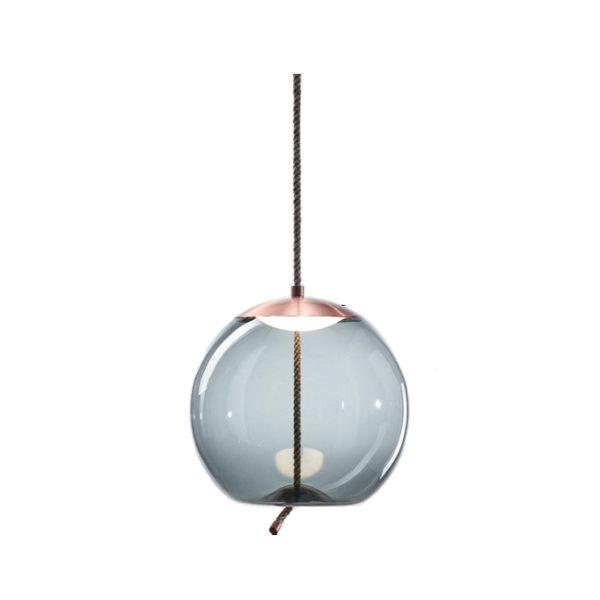 Lustra suspendata Gorudo , abajur de sticla, inaltime 30 cm - Underline