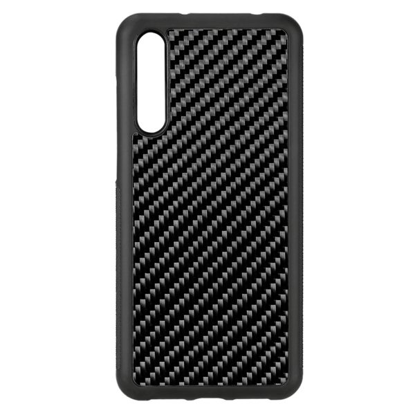 Husa Huawei P20 Pro, fibra de carbon, anti slide, full size protection, wireless charging - Underline