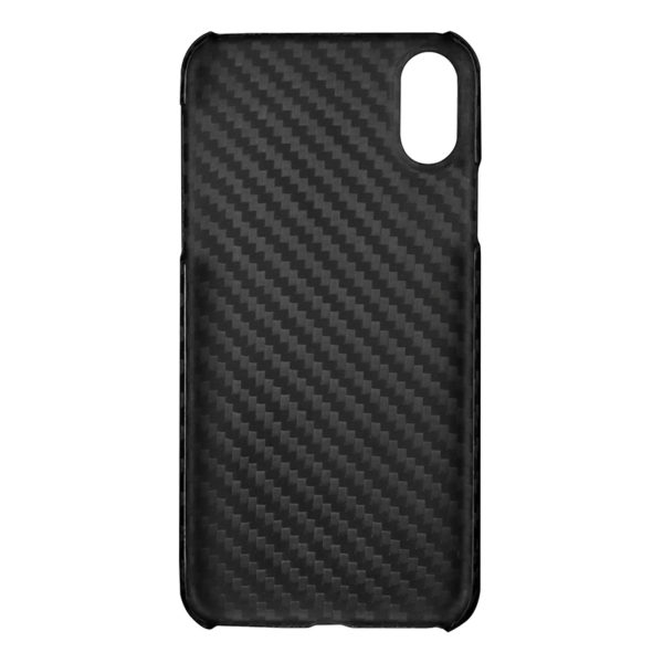 Husa iPhone X/Xs, fibra de carbon, full size protection, wireless charging - Underline
