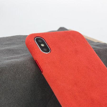 Husa iPhone Xr, Alcantara, wireless charging - Underline