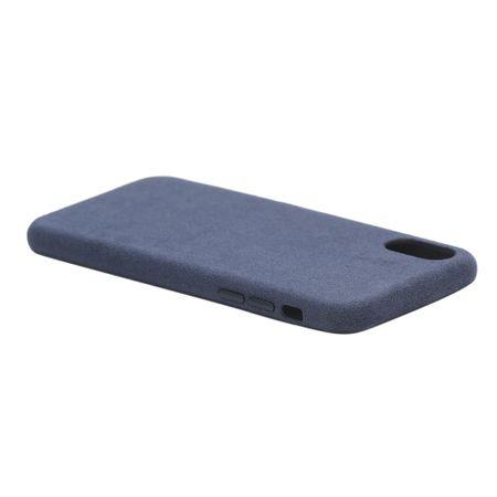 Husa iPhone Xs Max, Alcantara, wireless charging - Underline