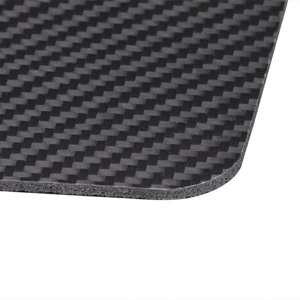 Mouse pad office, fibra de carbon 100%, negru - Underline