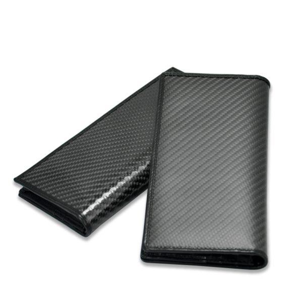 Portofel pliabil, fibra de carbon, unisex, negru glossy - Underline