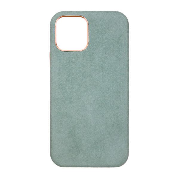 Husa iPhone 12 Mini, Alcantara, Magsafe, full size protection, wireless charging - Underline