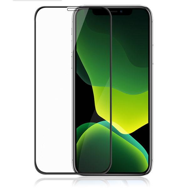 Folie sticla securizata iPhone 11/XR, 9D, Full Glue, Full Cover, Premium Clear - Underline