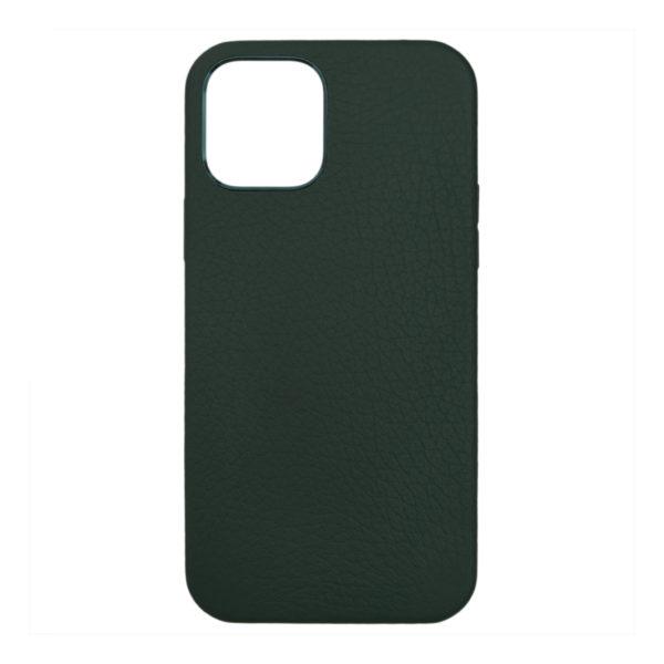 Husa iPhone 12 Mini, piele naturala Lychee, Magsafe, full size protection, wireless charging - Underline