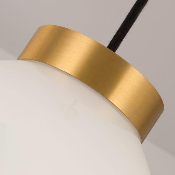 Lustra suspendata Bulgarsk, abajur sferic de sticla mata/transparenta, inaltime 25 cm - Underline