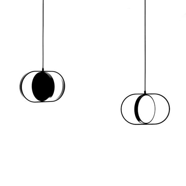 Lustra suspendata Kagami , abajur de metal, inaltime 26 cm - Underline