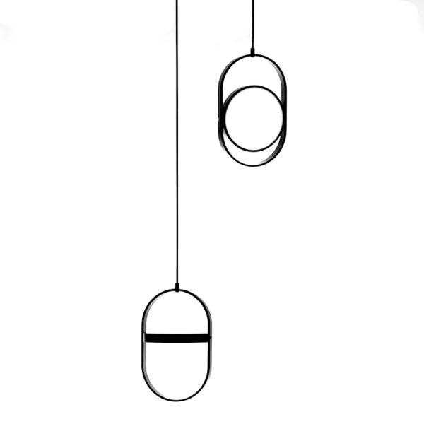 Lustra suspendata Kagami , abajur de metal, inaltime 36 cm - Underline