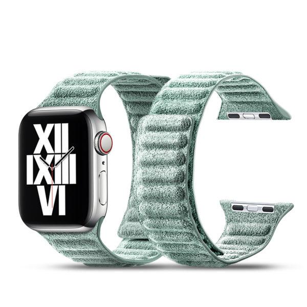 Curea pentru Apple Watch, Alcantara, prindere magnetica, 40mm - Underline