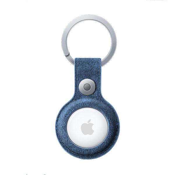 Husa breloc pentru Apple AirTag, Alcantara - Underline