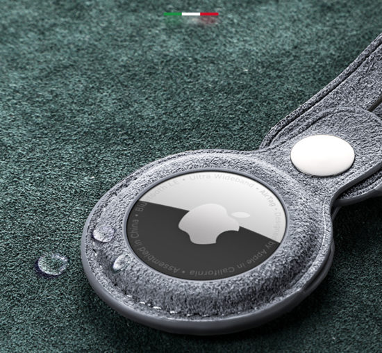 Husa loop pentru Apple AirTag, Alcantara - Underline