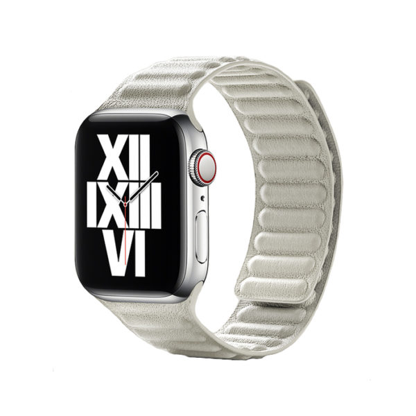 Curea pentru Apple Watch, piele naturala Nappa, prindere magnetica, 44mm - Underline